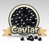 Black caviar label Royalty Free Stock Photo