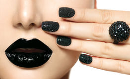 Black Caviar Manicure Royalty Free Stock Photography