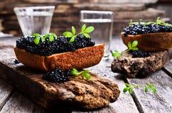 Black caviar Royalty Free Stock Photos