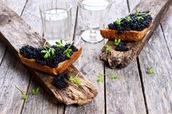 Black caviar royalty free stock photo