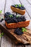Black caviar stock photography