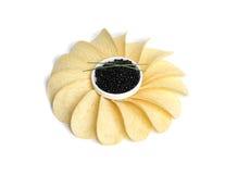 Black Caviar Wit Spring Onion Stock Image