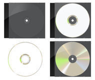 Black CD / DVD Cover Set Stock Photography