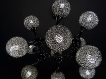 Black ceiling lamp with DNA structure design Royalty Free Stock Image