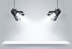 Black ceiling lamps. Vector Stock Photo