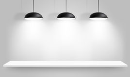 Black ceiling lamps. Vector Stock Images