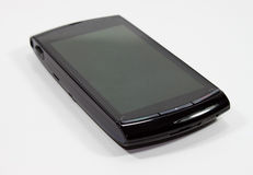 Black cell phone. On white background Stock Photography