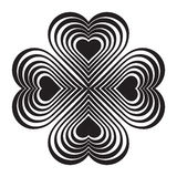 Black Celtic heart knot - stylized symbol. Made of hearts. Royalty Free Stock Photos