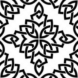 Black Celtic seamless pattern Royalty Free Stock Images