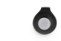 Black ceramic bowl Stock Photo