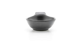Black ceramic bowl Royalty Free Stock Images