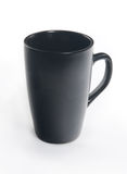 Black ceramic cup on white background Royalty Free Stock Photography