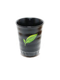 Black ceramic glass Stock Images