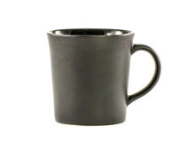 Black ceramic mug isolated on a white Royalty Free Stock Image