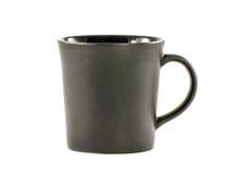 Black ceramic mug isolated on a white. Background Royalty Free Stock Image