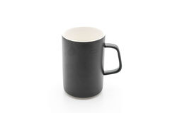 Black ceramic mug Royalty Free Stock Photos
