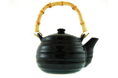 A black ceramic teapot Royalty Free Stock Image