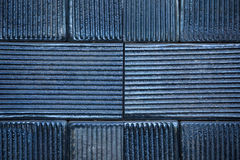 Black ceramic tiles Royalty Free Stock Photos