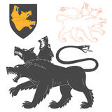 Black Cerberus Illustration Royalty Free Stock Image