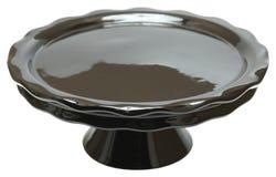Black Cerramic Emtpy Cake Stand Stock Photo
