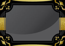 Black certificat with gold frame Royalty Free Stock Photo