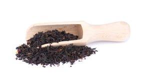 Black Ceylon tea with flower petals and bergamot, isolated on white background. Black Ceylon tea with flower petals and bergamot, isolated on white background royalty free stock images