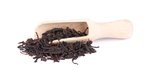Black Ceylon tea with soursop, isolated on white background. Black Ceylon tea with soursop, isolated on white background stock photography
