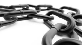 Black chain Stock Photos