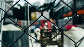 Black Chain Link Fence Stock Photos