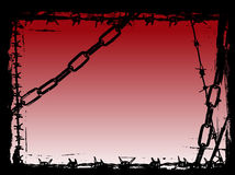 Black Chains And Barbed Wire Vector Grunge Border Royalty Free Stock Photos