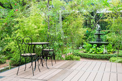 Free Black Chair In The Garden For Ralex Royalty Free Stock Image - 48832086
