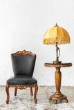 Black chair with lamp Stock Image