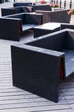 Black   chair  and  table Royalty Free Stock Image