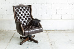 Black Chair in vintage room Stock Photography