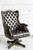 Black Chair in vintage room Stock Photos