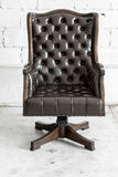 Black Chair in vintage room Royalty Free Stock Photos