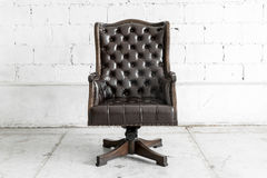 Black Chair in vintage room Royalty Free Stock Photography