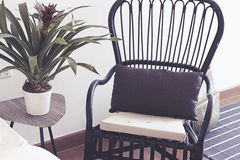 Black Chair by the window royalty free stock image