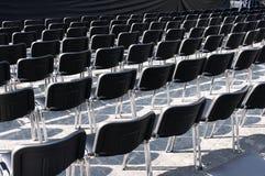 Black chairs Stock Photos