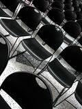Black chairs royalty free stock image