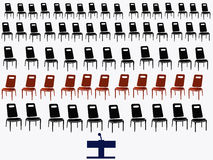Black chairs Stock Photography