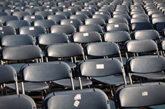 Black Chairs in Stadium for Concert Stock Photography
