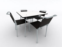 Black chairs and table Stock Photography