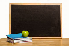 Black chalk board with copy space Royalty Free Stock Images