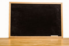 Black chalk board with copy space Stock Image