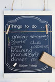 Black chalk board with a to do list Royalty Free Stock Photo