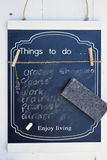 Black chalk board with a to do list Stock Image