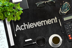 Black Chalkboard with Achievement Concept. 3D Rendering. Royalty Free Stock Photos