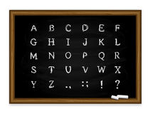 Black chalkboard with alphabet Royalty Free Stock Images