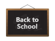 Black chalkboard back to school Stock Image